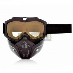 Мото очки + маска BEON B02 SP