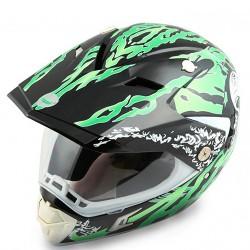 Шлем кроссовый HELMO CR188 Black/Green