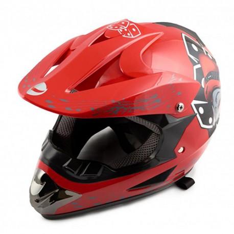 Шлем кроссовый HELMO CR168 Red