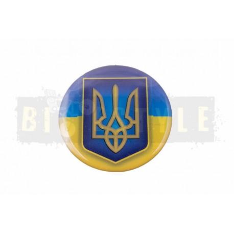 Наклейка Герб на флаге Украины (силикон)   (mod:2)