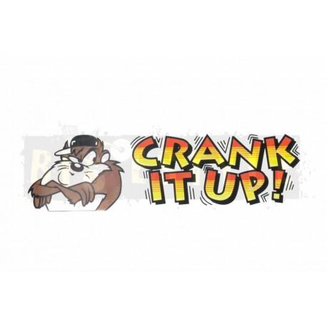 Наклейка CRANK IT UP!