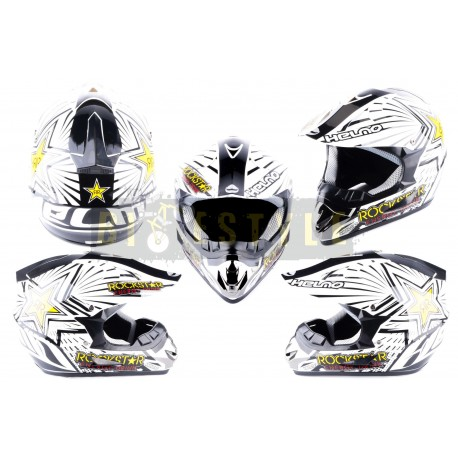 Шлем кроссовый HELMO CR168 Rockstar