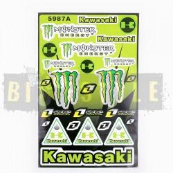 Набор наклеек Kawasaki