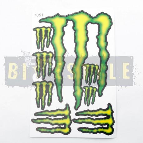 Наклейки Monster Energy Набор № 3
