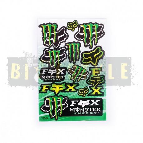 Набор наклеек Fox Monster № 12