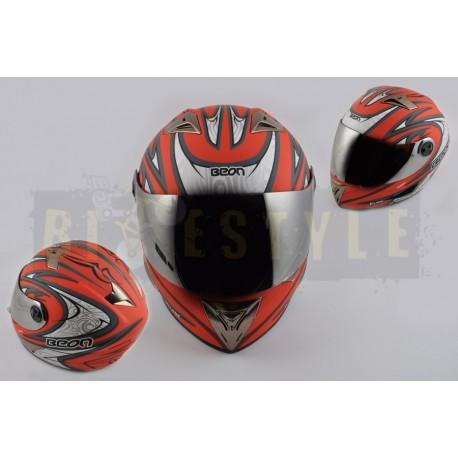 Шлем-интеграл BEON B 500 Red Blade Mat
