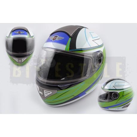 Шлем-интеграл KOJI mod.550 White/Green