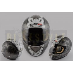 Шлем-интеграл LS-2 mod.366 Black/White Mat
