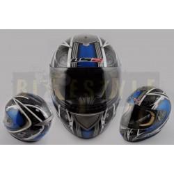 Шлем-интеграл LS-2 mod.366 Black/Blue