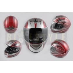 Шлем-интеграл LS-2 mod.368 Grey/Red