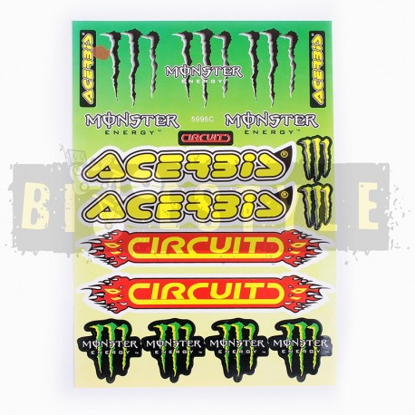 Набор наклеек Monster Energy № 9