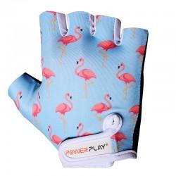 Велоперчатки женские Powerplay Flamingo