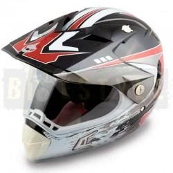 Шлем кросовый HELMO CR188 Black/Red