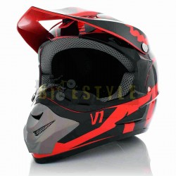 Шлем кроссовый HELMO V1 Red